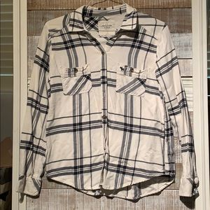 Abercrombie and Fitch flannel shirt.